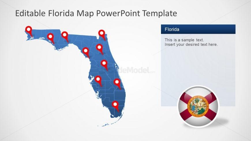 Editable Map Template of Florida