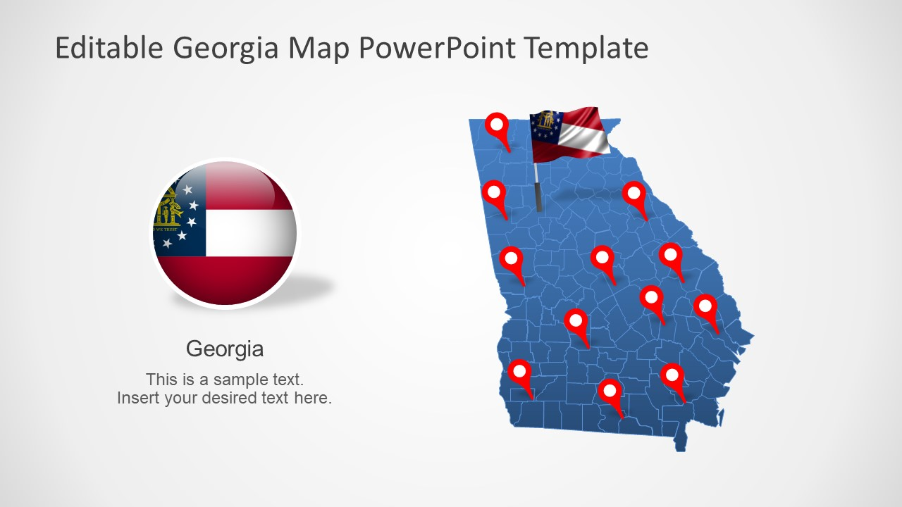Editable Map Template of State