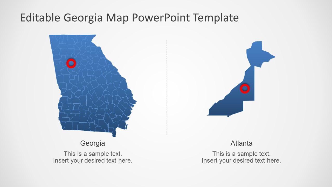 Map of 159 Georgia Counties