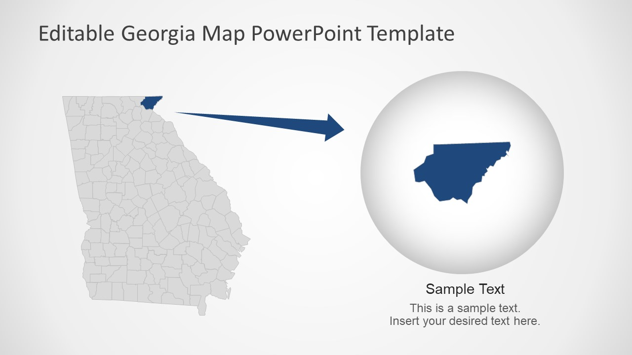 Georgia State Powerpoint Map Template Slidemodel