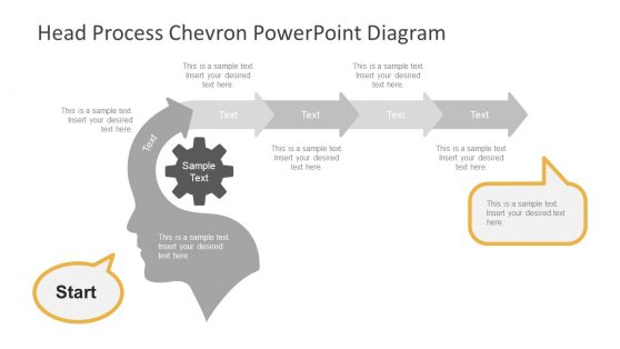 Chevron Timeline Horizontal Template