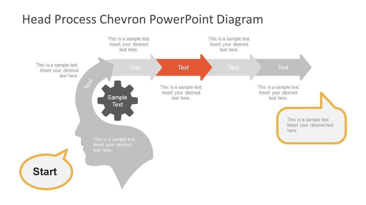 Chevron Diagram Template with Arrows
