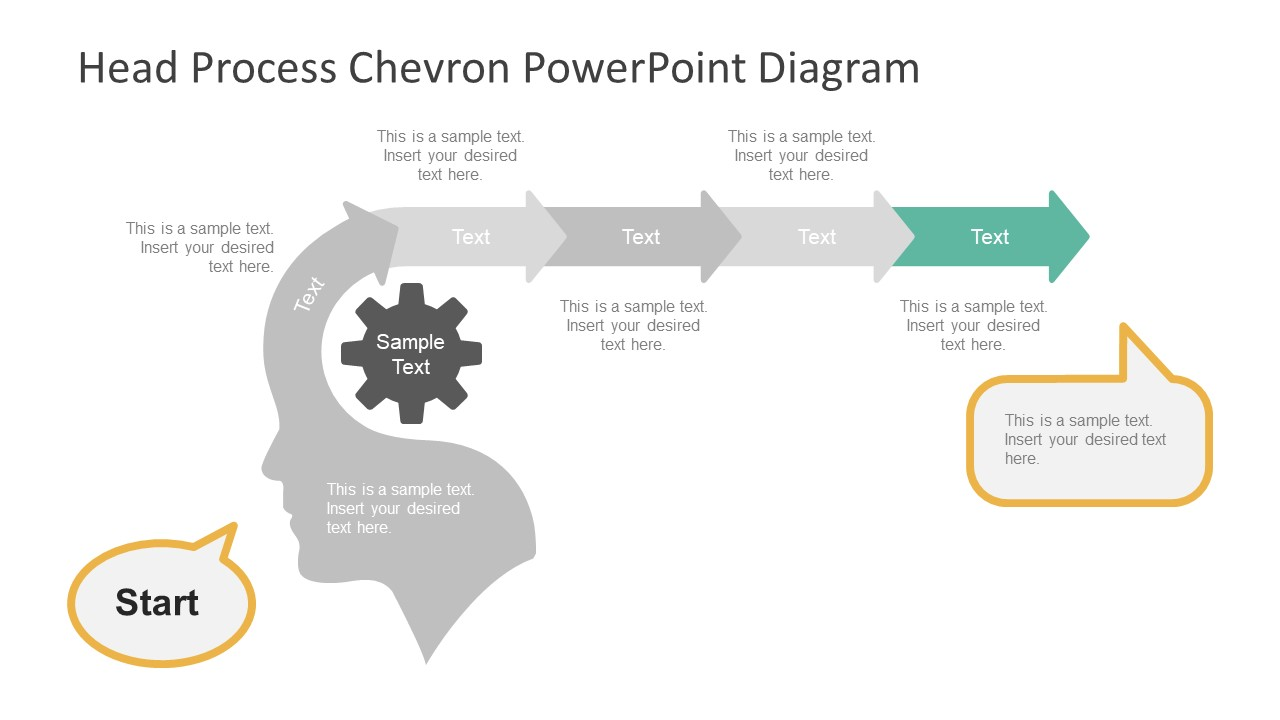 Editable PowerPoint Diagram of Chevron Timeline