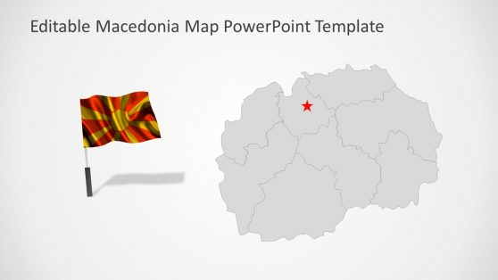 Flag and Macedonia Map Presentation