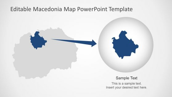 Zoom State of Macedonia  PowerPoint