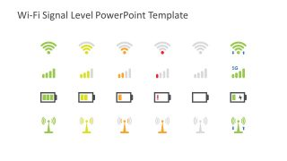 Wifi Signal Level Shapes for PowerPoint
