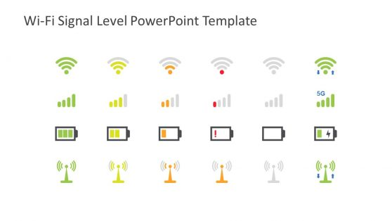 Wifi and Network Signals Icons