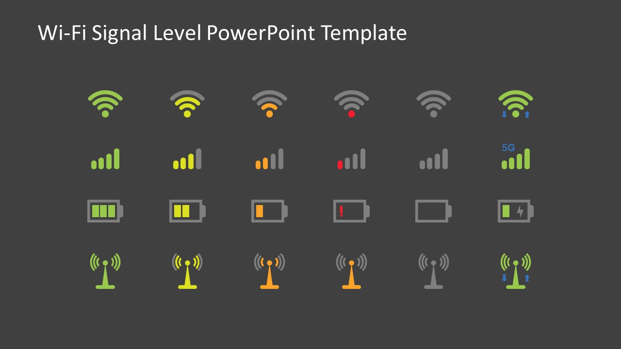 Battery WIFI and Network Signals Slide