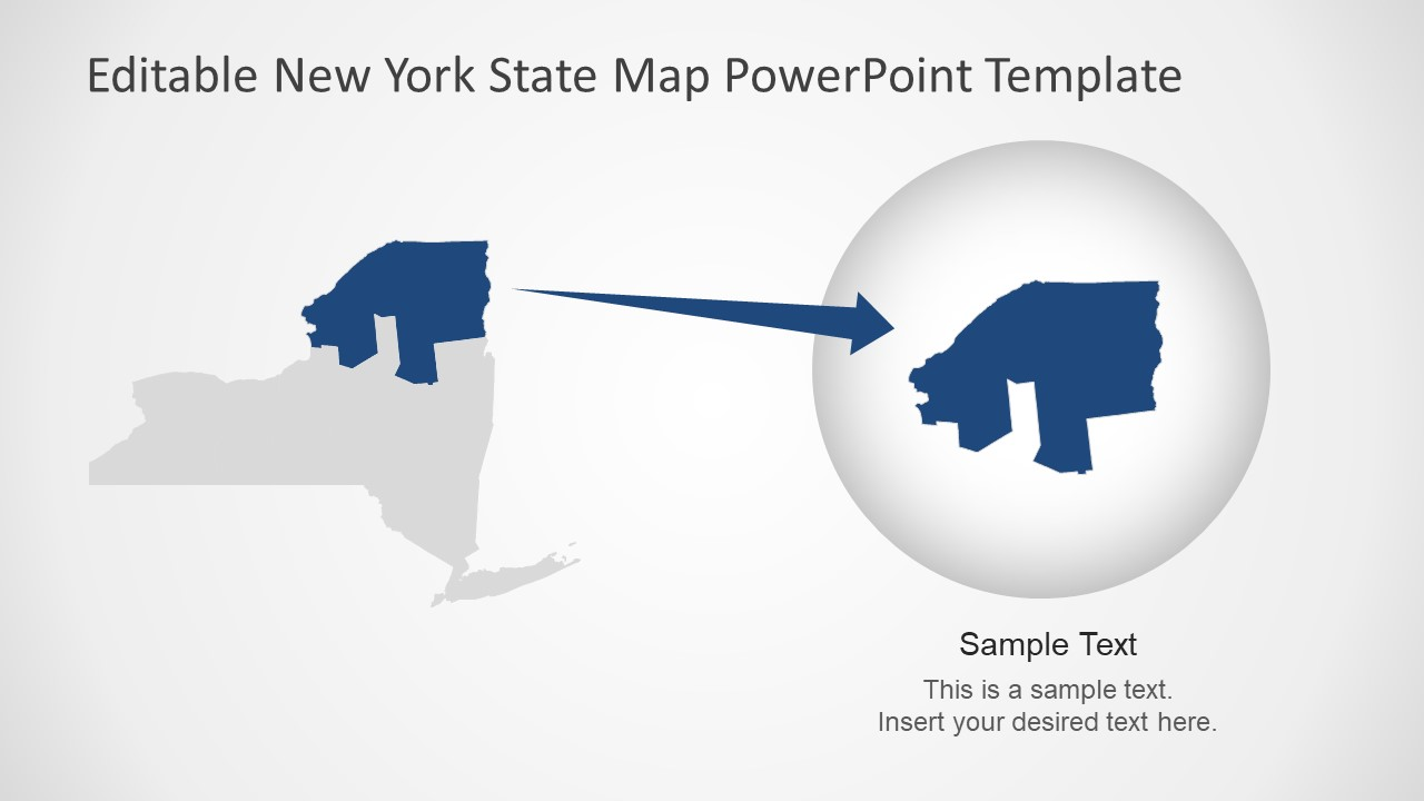 Zoom-in PowerPoint USA State Map