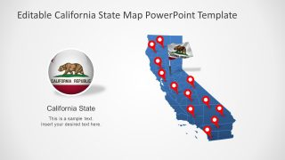 PPT California Flag Template