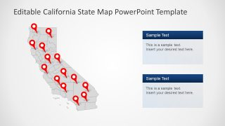 PowerPoint Map Template of California