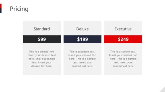 Hotel Pricing Slide 3 Section