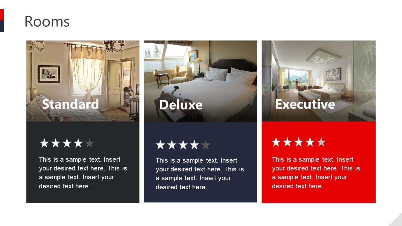 Slide of Room Options Hotel Business