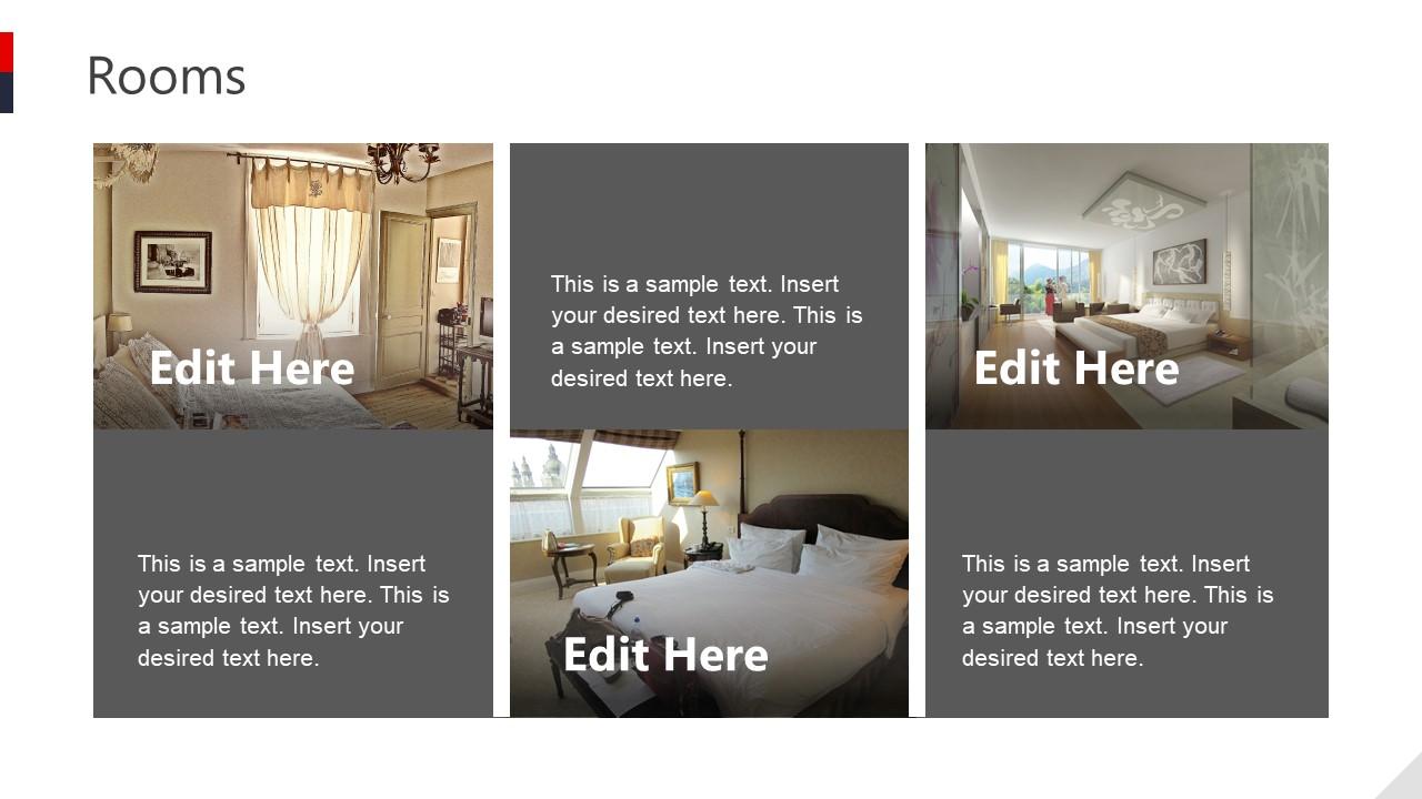 Slide of Hotel Rooms in Presentation