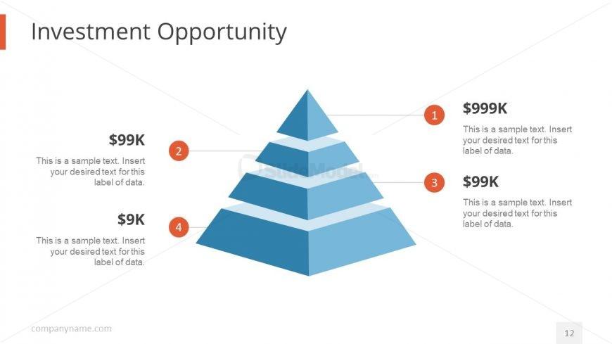 Pyramid Diagram Design for Investors