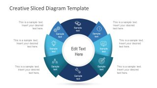 8 Step Sliced Diagram with Core Element for PowerPoint