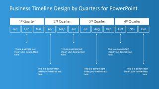 Quarters Timeline Presentation Template