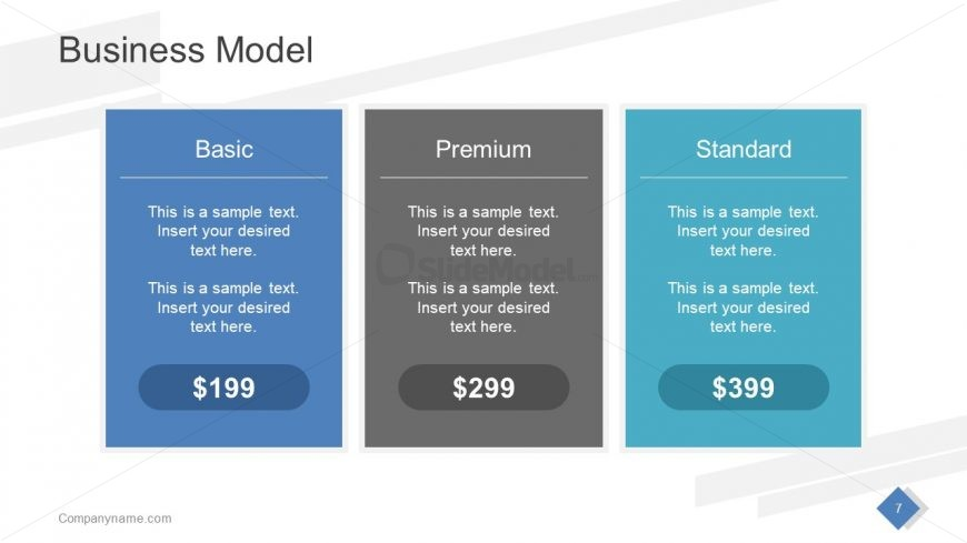 Business PowerPoint Model Template