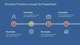 Checklist Timeline Concept for PowerPoint