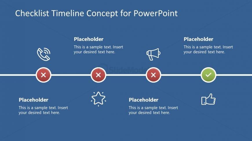 Checkbox Animated Timeline of Infographics