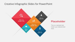 Infographic PowerPoint with 5 Rhombus