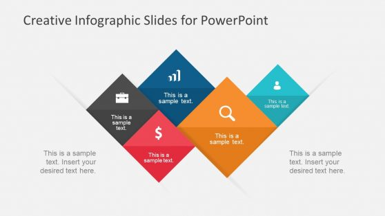 PPT Rhombus Design with Infographics