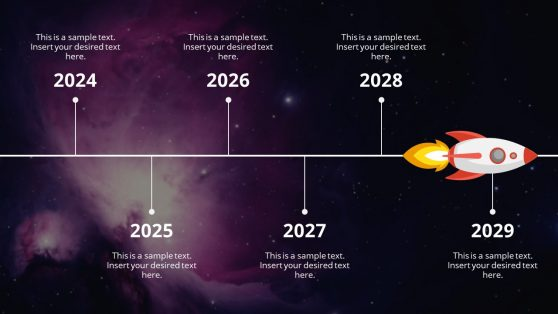 Animated PowerPoint Roadmap Spaceship