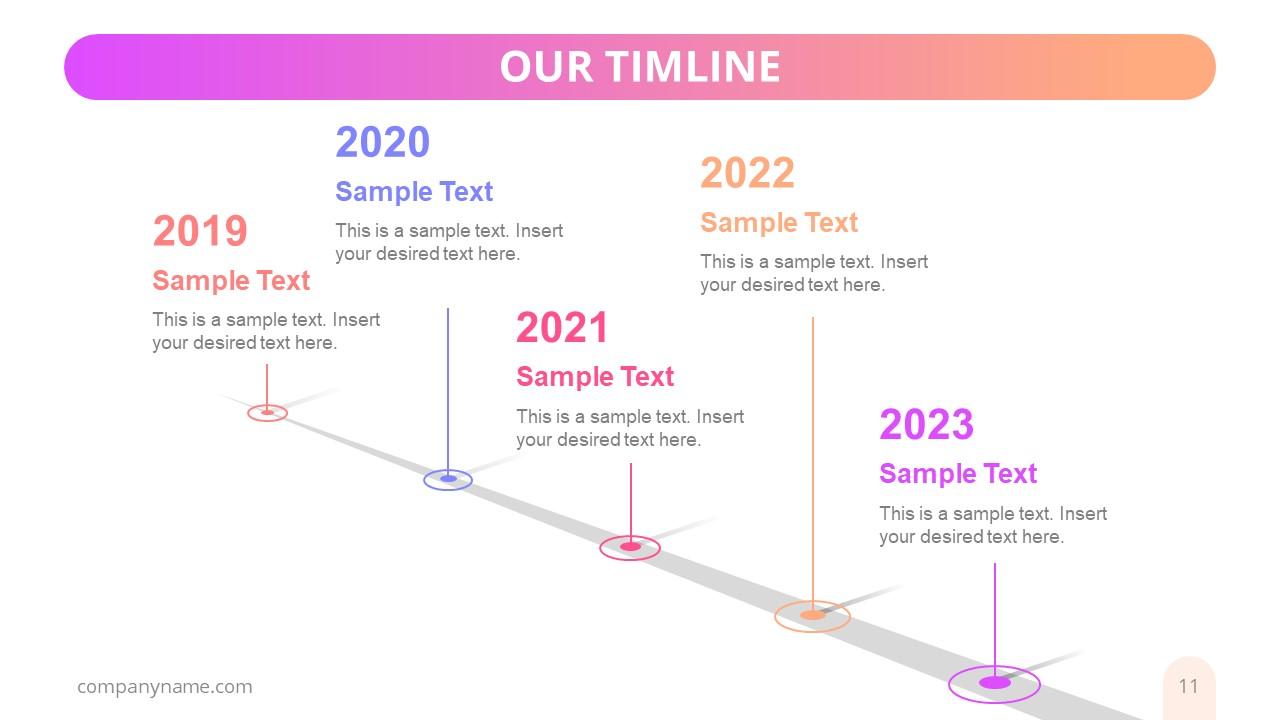 Pole Style Business Presentation Timeline