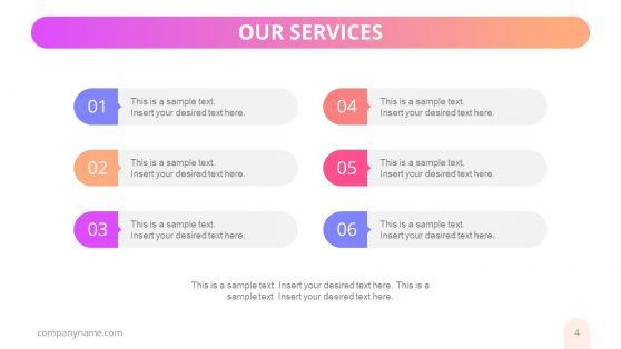 Bullet List Business Services Template