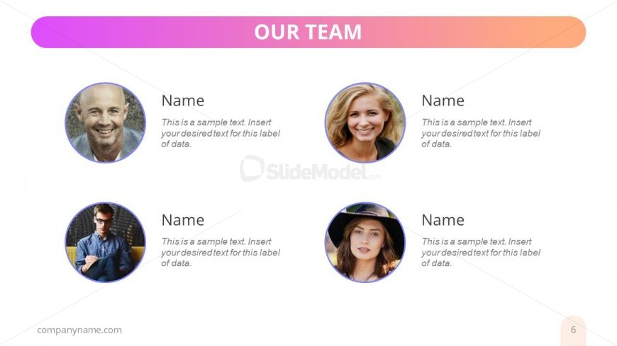 Photo Placeholders for Team Members