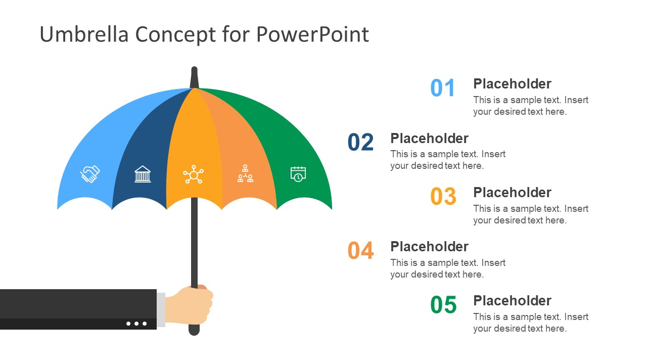 Umbrella Risk Management Concept Template For Powerpoint Slidemodel