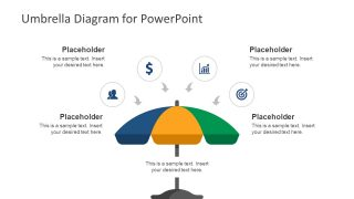 Segmented Umbrella Diagram for PowerPoint