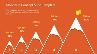 Mountain Concept Slide PowerPoint Template