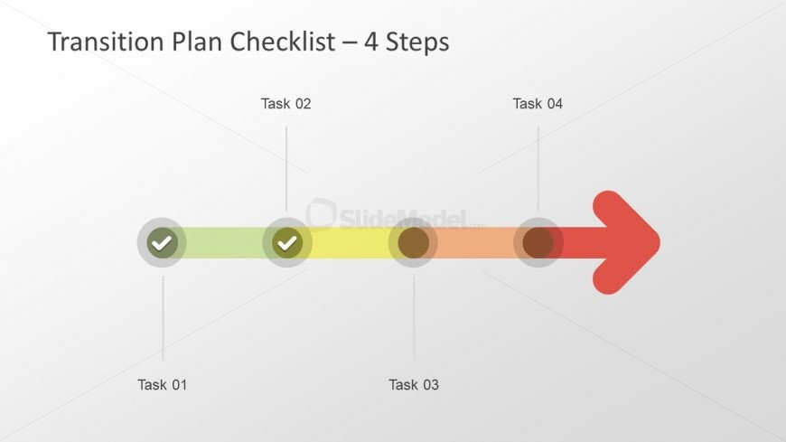 4 Milestones of Checklist PowerPoint