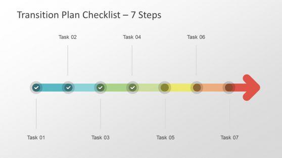 Checklist PowerPoint Horizontal Arrow