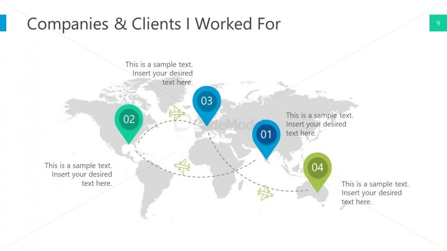 PPT Template Map Global Reach