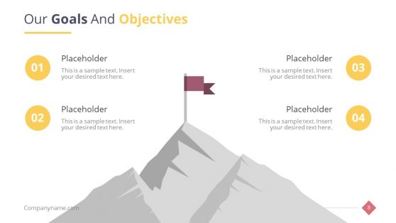 Mountain Illustration for Success PPT