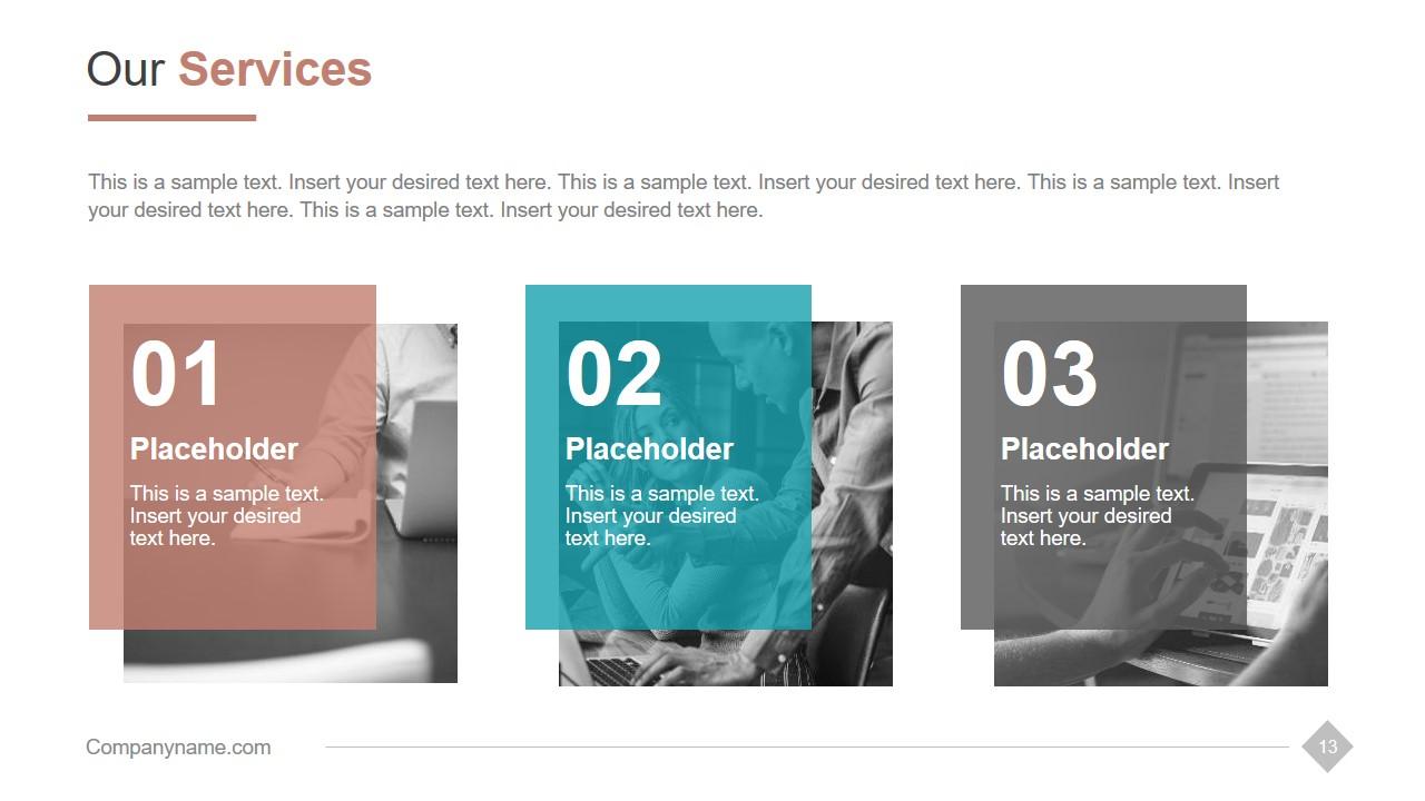Three Segment Content Placeholders