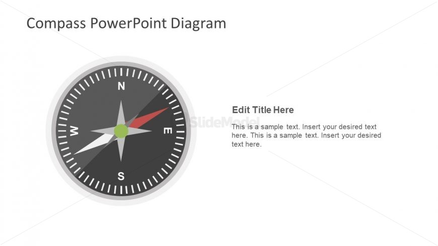 Compass Slide for Direction PowerPoint