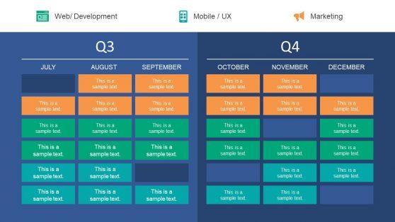 PPT Quarter Timeline Label Roadmap