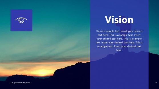 Vision Slide of Invictus PowerPoint