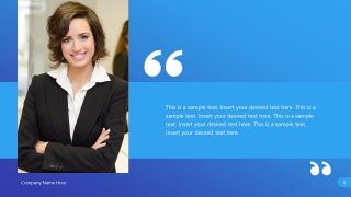 Professional Quote of Leader PPT