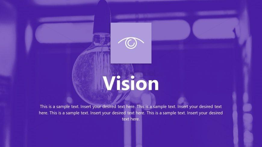 Purple Theme for Company Vision