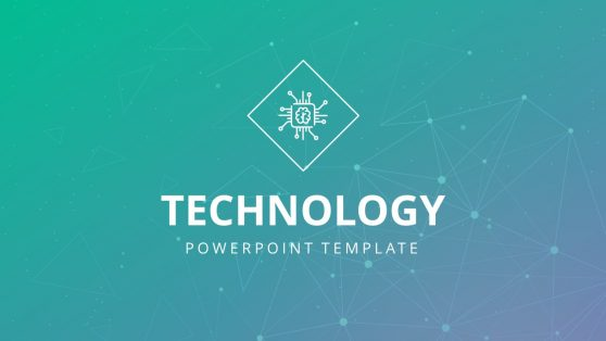 Technology Network Pattern PowerPoint