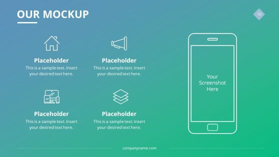 Mobile Phone Application Mockup Slide