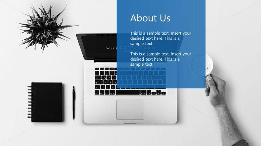 PowerPoint Computer on Desktop Illustration