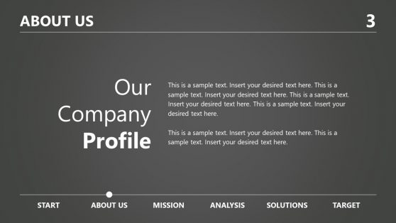 Grayscale Theme Company About Us