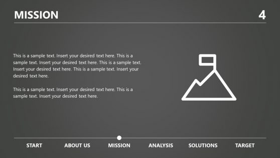Mission Presentation Grayscale Template