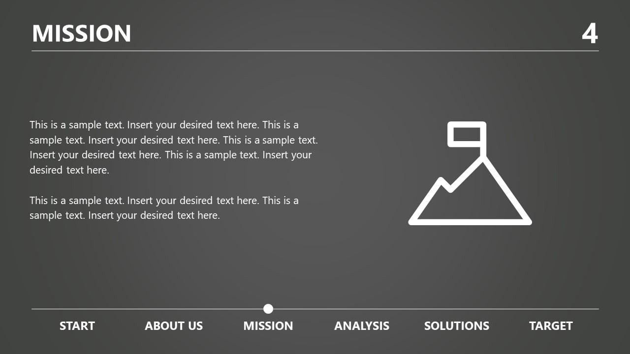 Flat Mission Slide Template
