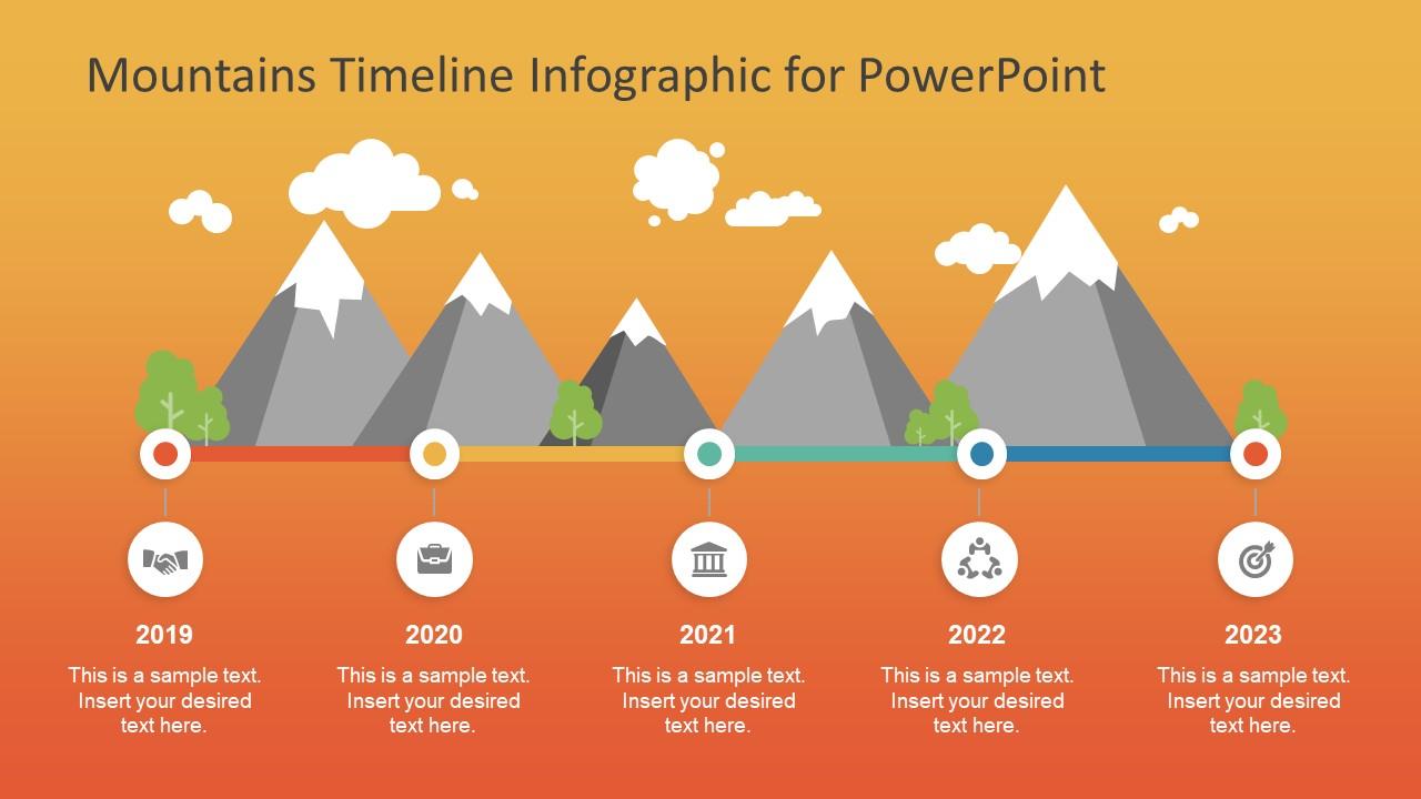 Mountain Illustrations Slide for PowerPoint